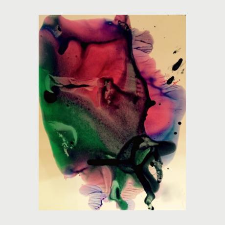 Eleni Kyrou Tsakalou, ink on paper, 20x20
