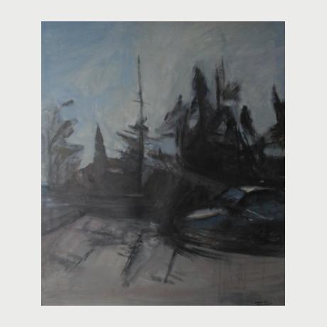 Eleni Papanikolaou - Landscape - Acrylic 81 X 95 Cm