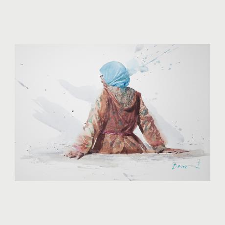 Eudes Correia,2017,watercolor, Morocco,30 x 42 cm
