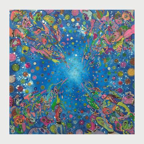 Evi Kirma, Colorful, 1967 acrylics on canvas 100 x 100 cm  (1)