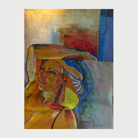 Evi Kirma, Colorful, 1967 acrylics on canvas 100 x 100 cm  (2)