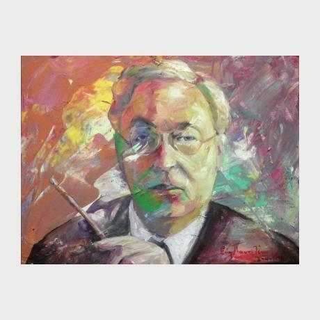 Evi Pantaleon - Portrait Wassily Kandinsky - Oil On Canvas 40 X 30 Cm