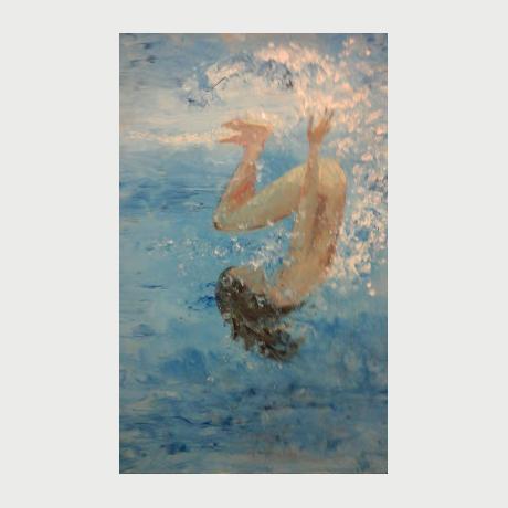 EVI PANTELEON, Greece, painting, oil on canvas, 60x80cm