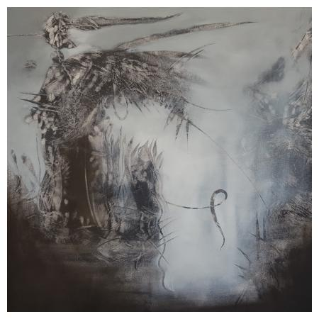 Fallen Angel,100x100 cm , oil on canvas, 2019