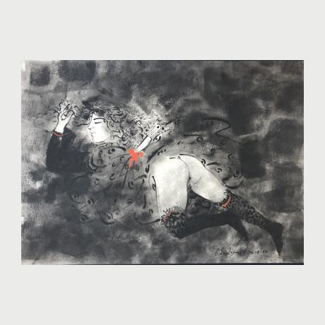 Georgios Stathopoulos, De puta muerte, 2015, Acrylic on paper, 50 x 71 cm