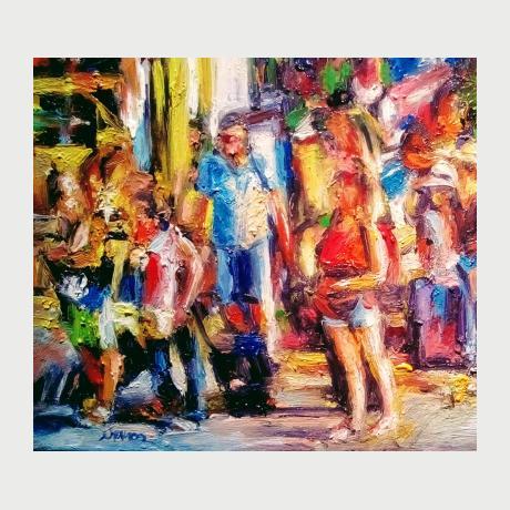 IOANNIS NTAKOS, Greece,24x26cm , painting, oil on canvas