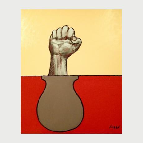 Jason Kontogiannis, ROCK, 50x60cm, oil in canvas