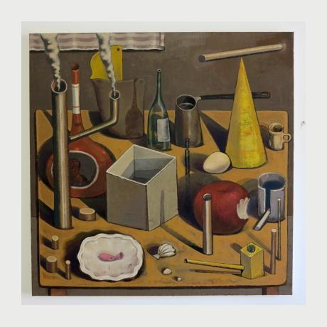 Kostis Damoulakis, Still life, oil on canvas, 100x100 cm