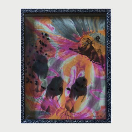MAJA ''La Femme est l'Avenir de l'Homme'' (55x70)cm, Mixed media, 2010