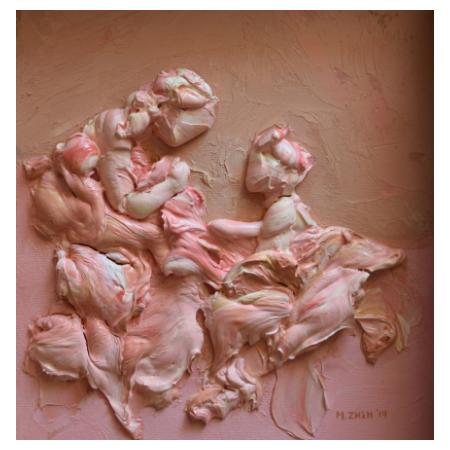 Maria  Zisi | Untitled | 25x22 cm | Bas-relief with oil on canvas