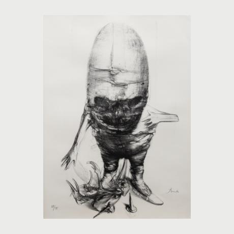 Miodrag Đurić Dado, Dermatologie, 1975, litography, 29_75, 65 x 47 cm