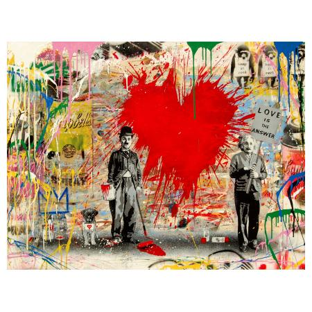 MR BRAINWASH (Thierry Guetta), 2016, Silkscreen & Mixed Media on Paper, Juxtapose, 98x127cm