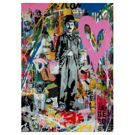 MR BRAINWASH (Thierry Guetta), 2017, Silkscreen & Mixed Media on Paper, Chaplin, 76x57cm