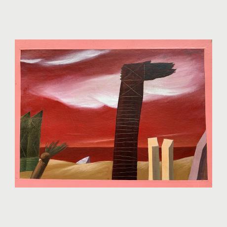 Nikos Stafenou,Untitled,Acrylic on canvas,50x70 cm
