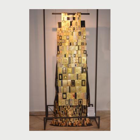 Papagiannoylis Yannis, Climt, 2015, Sculpt. Installation, Cardboard, foamboard, goldboard, napkins, glue, metal fasteners