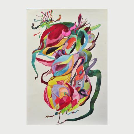 Reghina Gunzurevscsia,The power of love,Water color