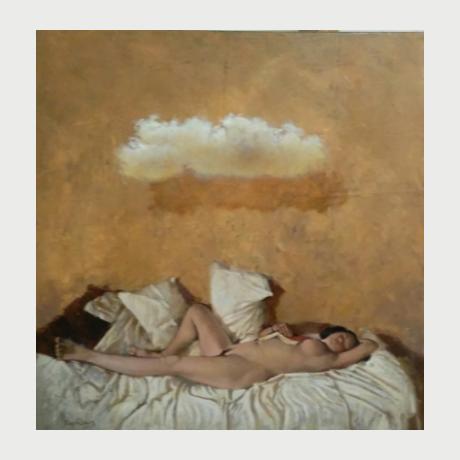 Solidakis Vasilis, Sleeping Beauty. oil on canvas, 70χ70cm