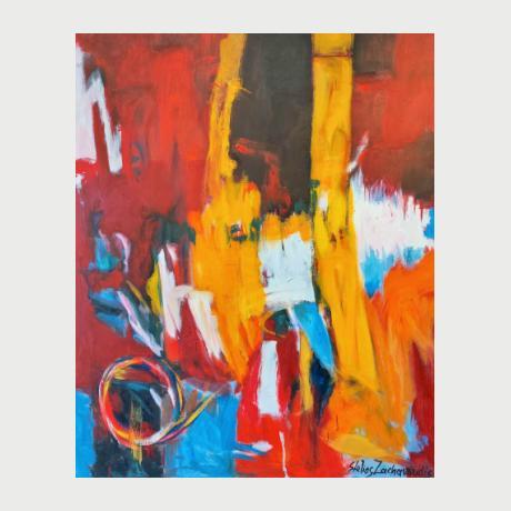 Stelios Zacharoudis, Untitled, 120 x 100 cm, Oil on canvas, 2021