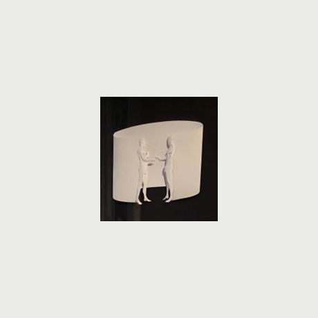 Stoidis Aris, Couple, 2017,  paper work, 50x50