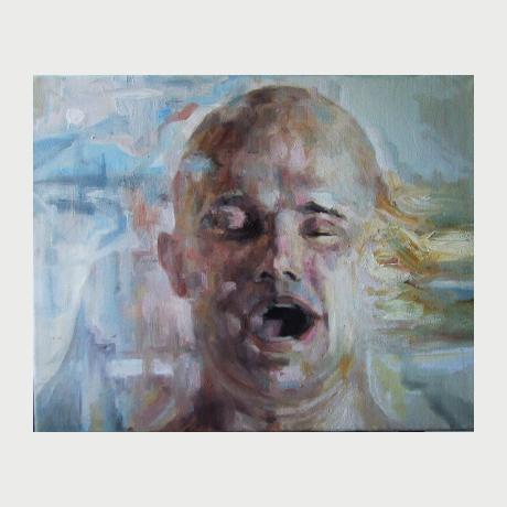 Tsakonas Alexandros, voices, oil on canvas. 40x50cm