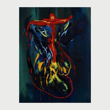 Victor BAKKER ''Untitled'' (150x200)cm, Oil on canvas