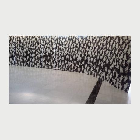 Xenos George,Untitled,Acrylic on paper, 100×70 cm, διασταση μεταβλητη, 2015l