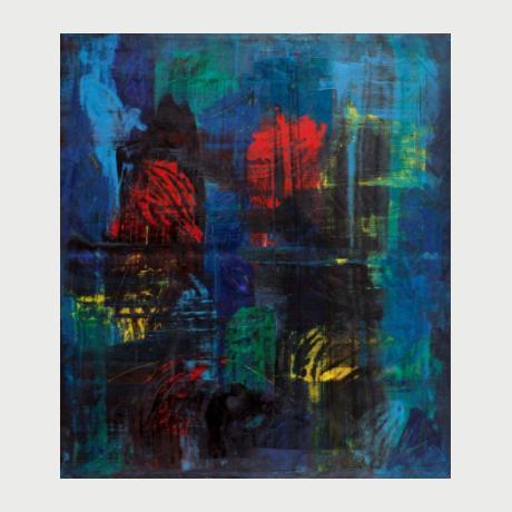Zeki Arslan, BigBang, oil on canvas, 176x152 cm, 2017